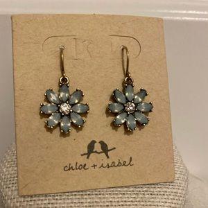 New blue flower earrings